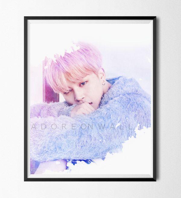 Kpop Bts Jimin Watercolor Inspired Printable Wall Art Poster
