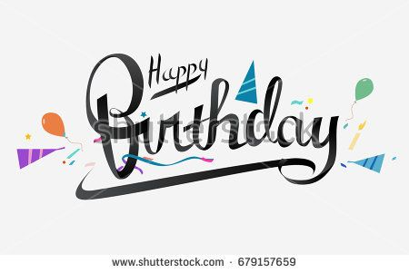 Happy Birthday Typographic Vector Design For Greeting