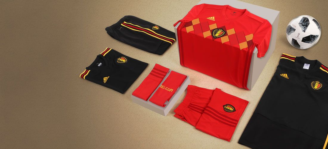 fe05b4c2 Equipación oficial selección Bélgica. Camiseta oficial de Bélgica  2017/2018. Camiseta color Rojo