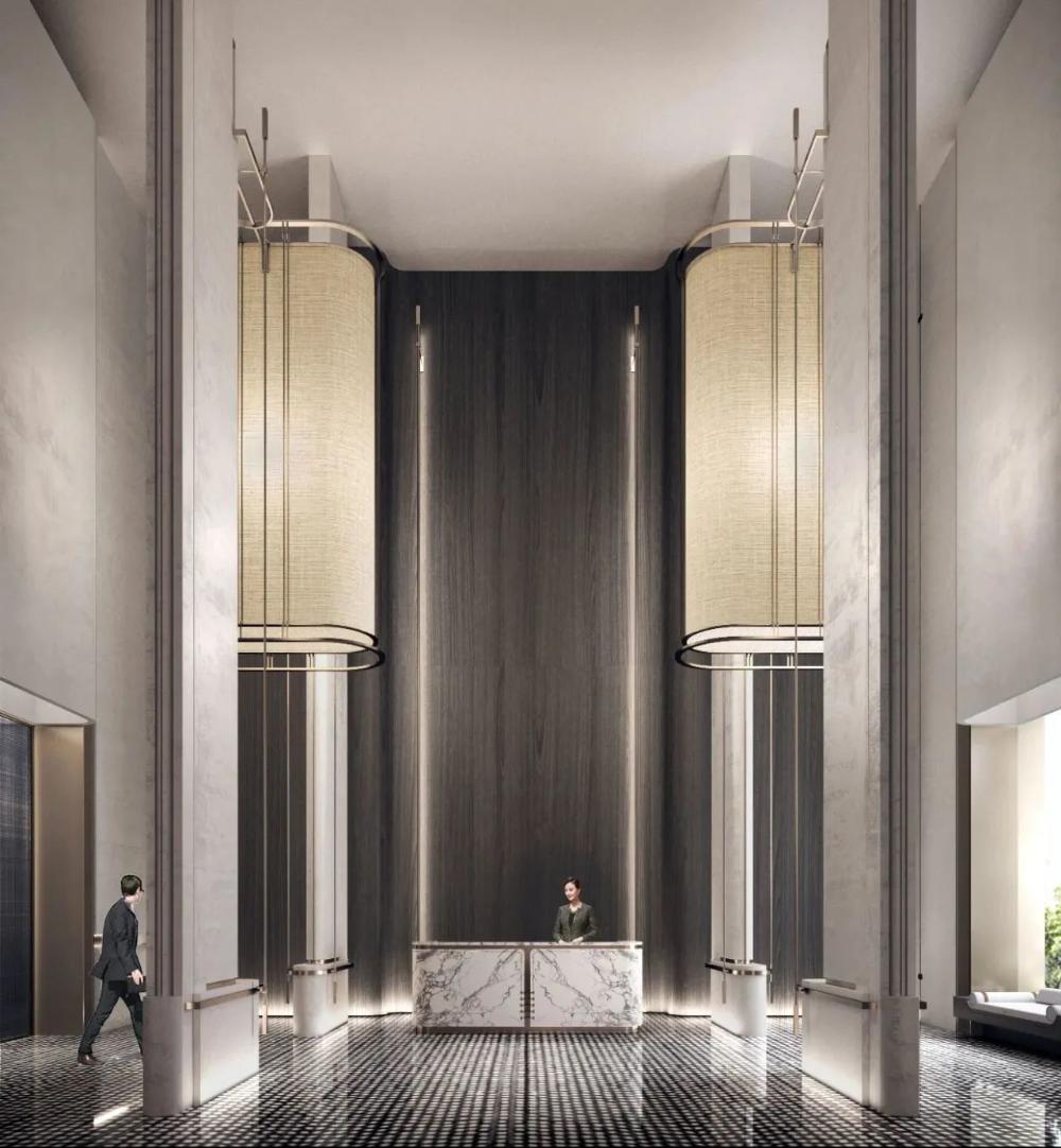 海派东方 东方语境下的现代笔调维几设计 wall cladding designs hotel design framed bathroom mirror