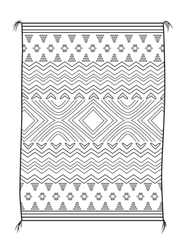 Icolor Quot Indian Lore Quot Navajo Blanket Coloring Detailed