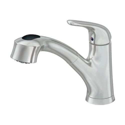 Artisan AF 240 Premium Single Handle Pullout Spray Kitchen Faucet    Includes Escutcheon Plate, Grey