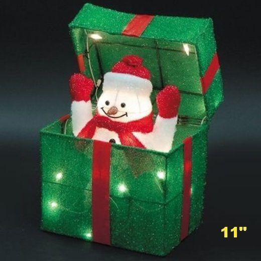 Snowman Gift Box Sculpt Lid Christmas