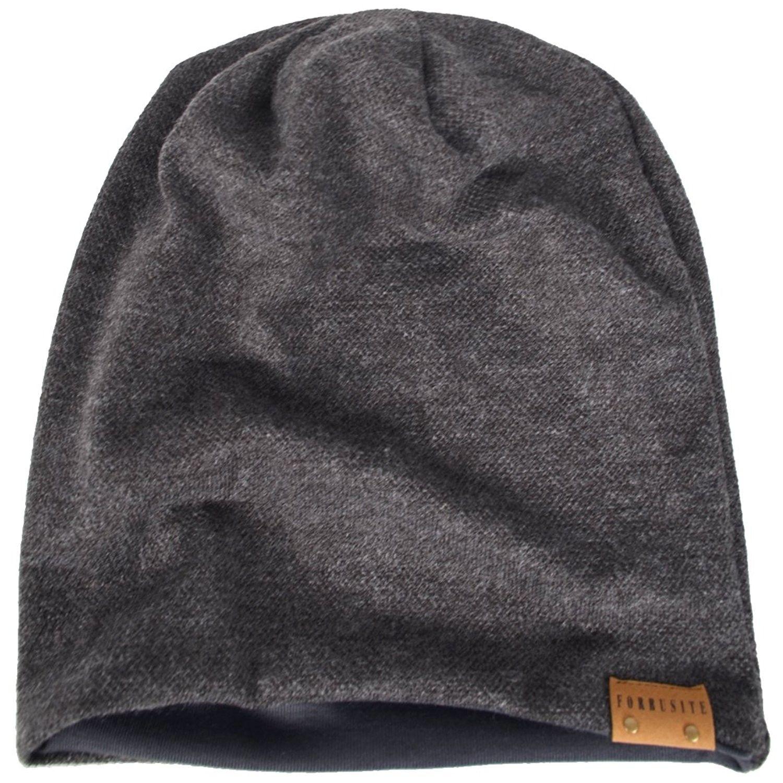 c0600a45c575bb FORBUSITE Men Oversize Skull Slouch Beanie Large skullcap Knit Ski Hat B08  - Dark Gray-010b - CS126KEM919 - Hats & Caps, Men's Hat…