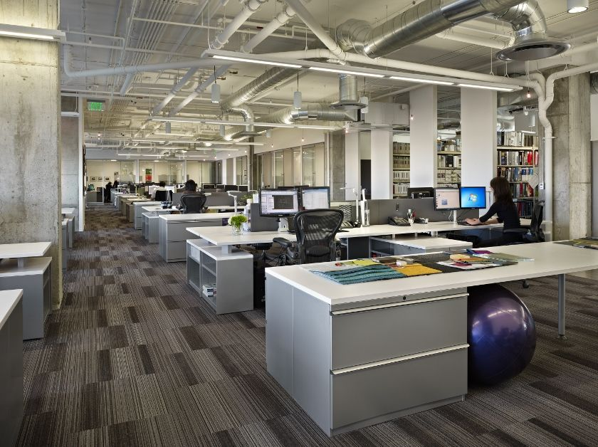 open office ceiling decoration idea. Open Office With Shared Work Space For Teams To Collaborate. Ceiling Decoration Idea