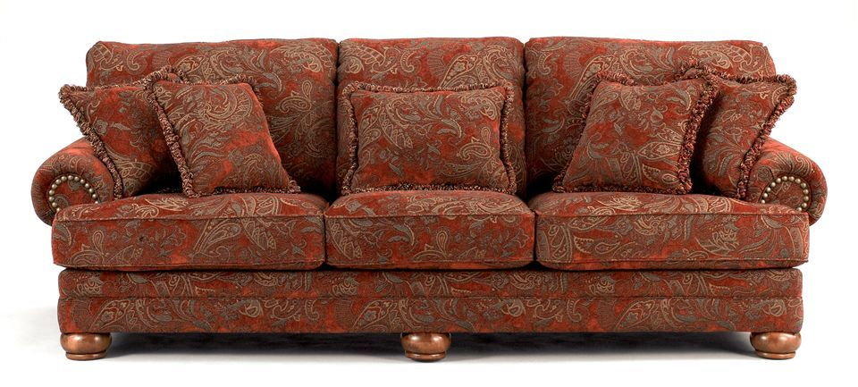 Traditional Sofa w Sienna Paisley Upholstery $849.99 | Living ...