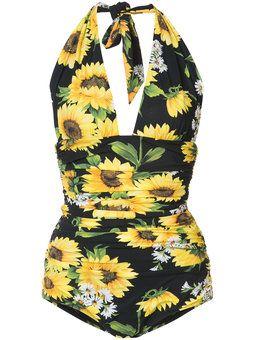 cc00ba1cb89 Sunflower swimsuit | Dolce and Gabbana | Swimsuits, Swimwear ...