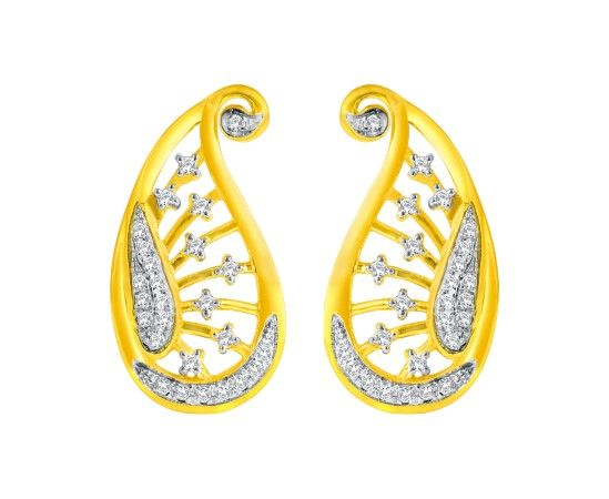 Real Diamond Indian Jewellery Earrings