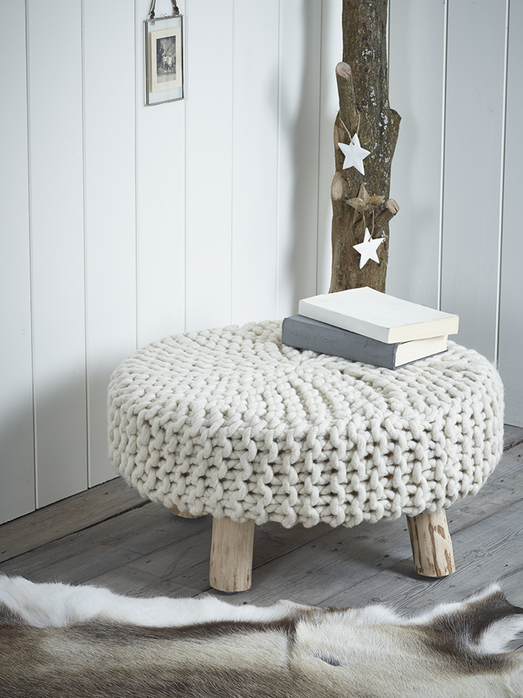 Fabulous Chunky Knit Footstool Home Decor Accessories Home Pdpeps Interior Chair Design Pdpepsorg