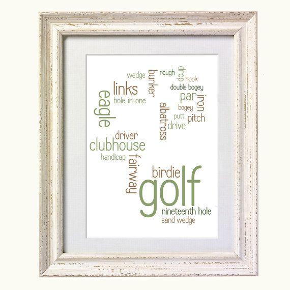 Golf Typography Art Print by silvermoonprints on Etsy, $10.00