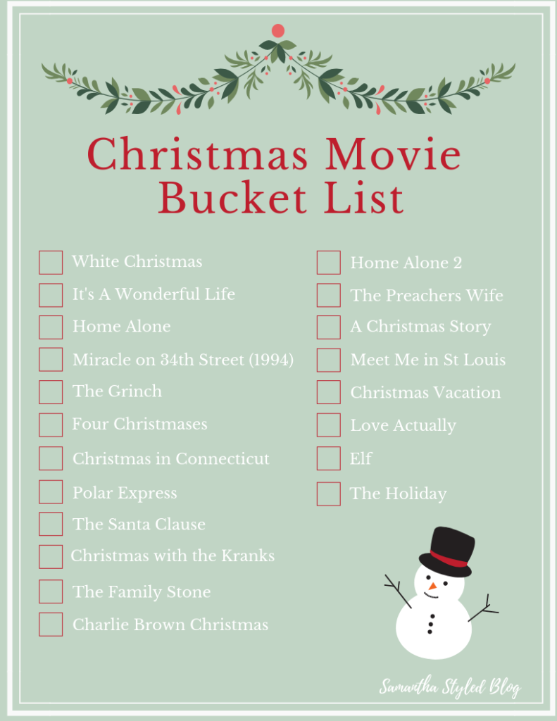 Christmas Movie Bucket List Christmas Pajamas Hot Cocoa Christmas Movies Christmas Movie Night Best Holiday Movies