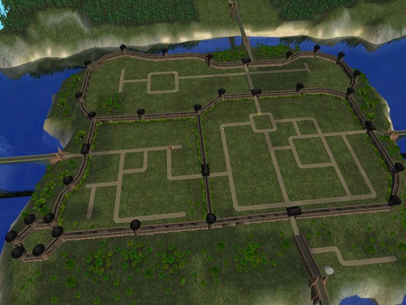 Mod The Sims - Recolor of Lethe_s Medieval Town Wall   Medieval ...