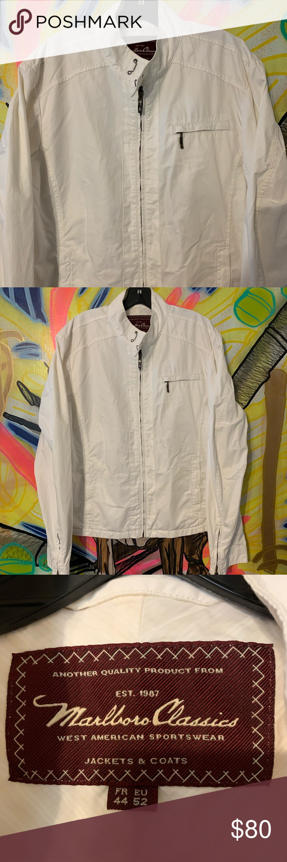 Vintage Marlboro Classics Casual Racing Jacket M Marlboro Classics Jackets Lightweight Shirts