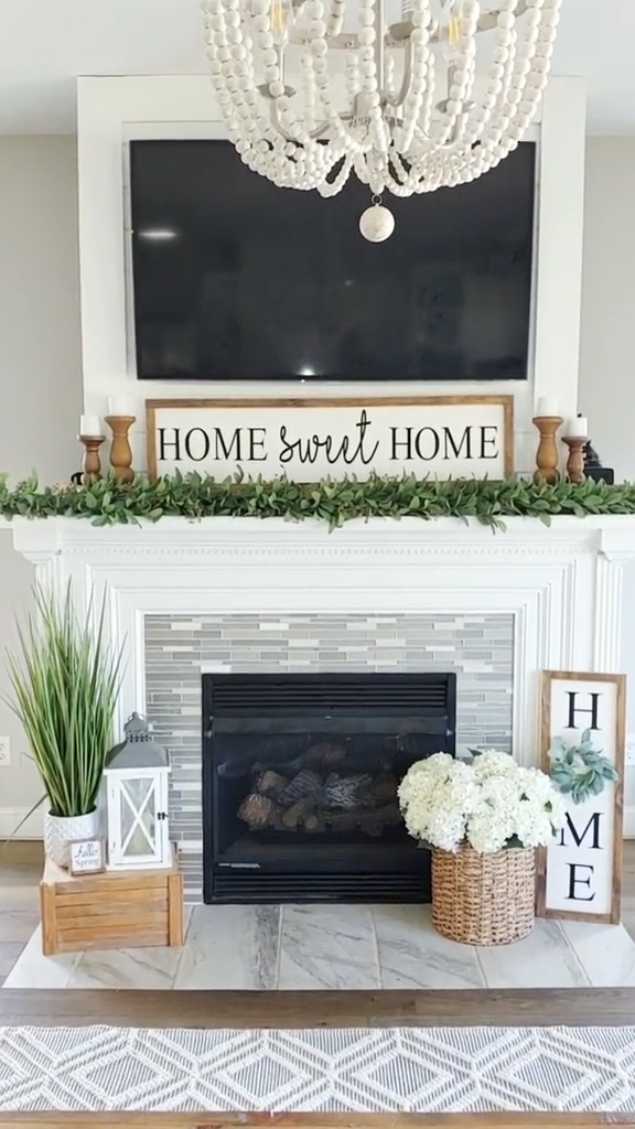 Photo of Farmhouse Decor | Fireplace Mantle