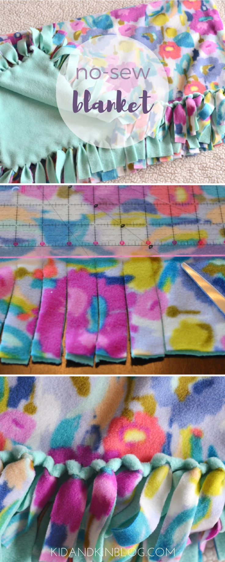 Nosew blanket tutorial first action in our kind kids club gather
