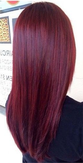 Ruby Red with jets of red violet. Could this be considered a professional hair color? lol                                                                                                                                                     More