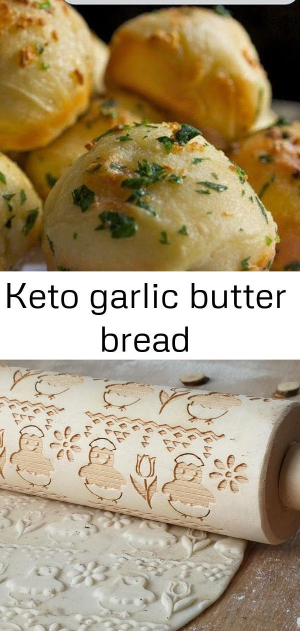 """Keto Garlic Butter Bread 
