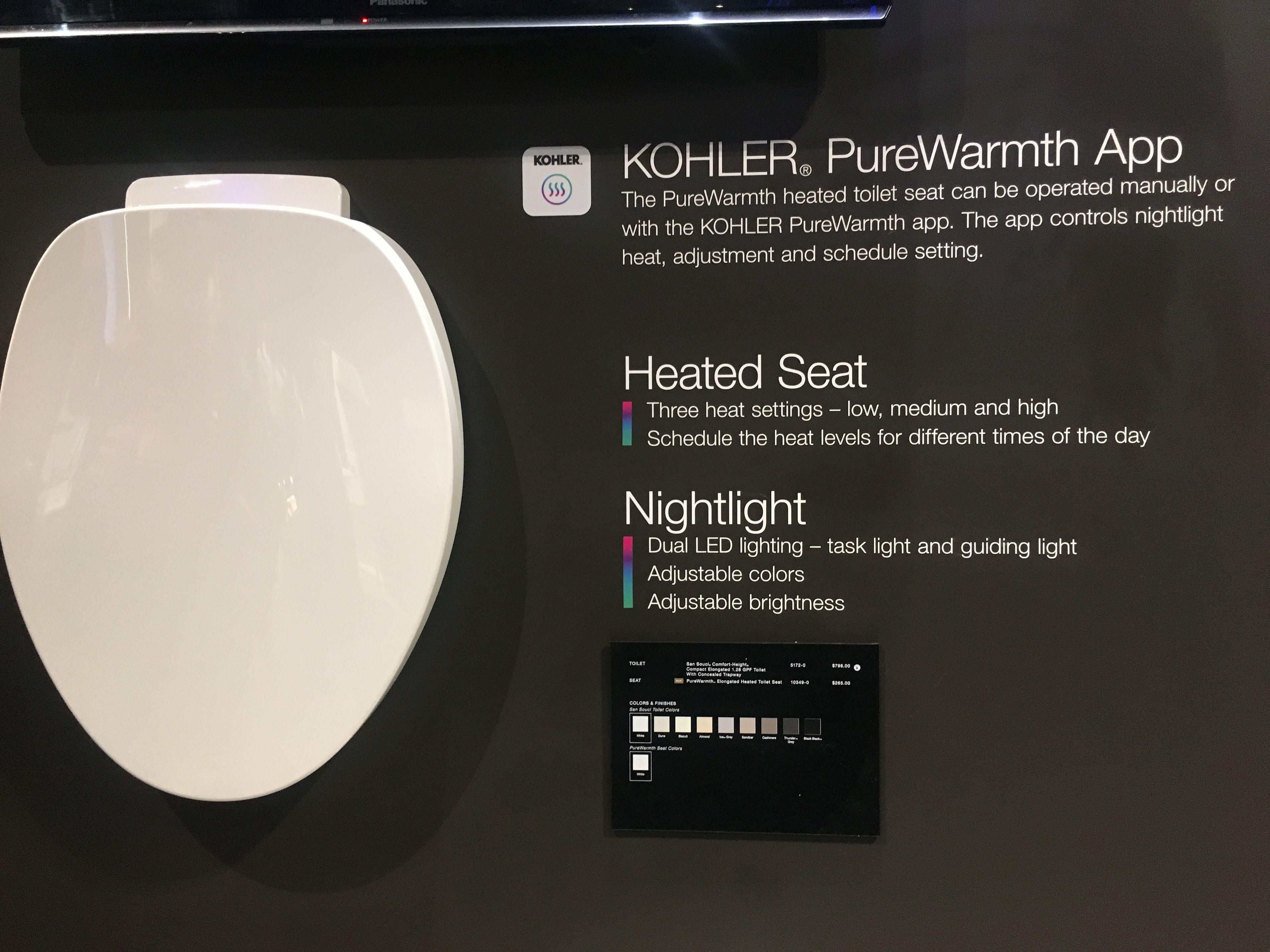 Admirable Kohler Purewarmth Heated Toilet Seat Kohlers Ncnpc Chair Design For Home Ncnpcorg