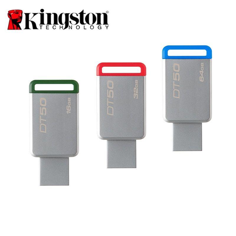 Kingston DT50 8GB 16GB 32GB 60GB Flash Drive USB 3.1 3.0 Thumb Stick Memory