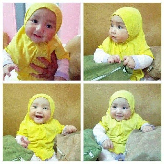 Baby Wearing Hijab.. Cute
