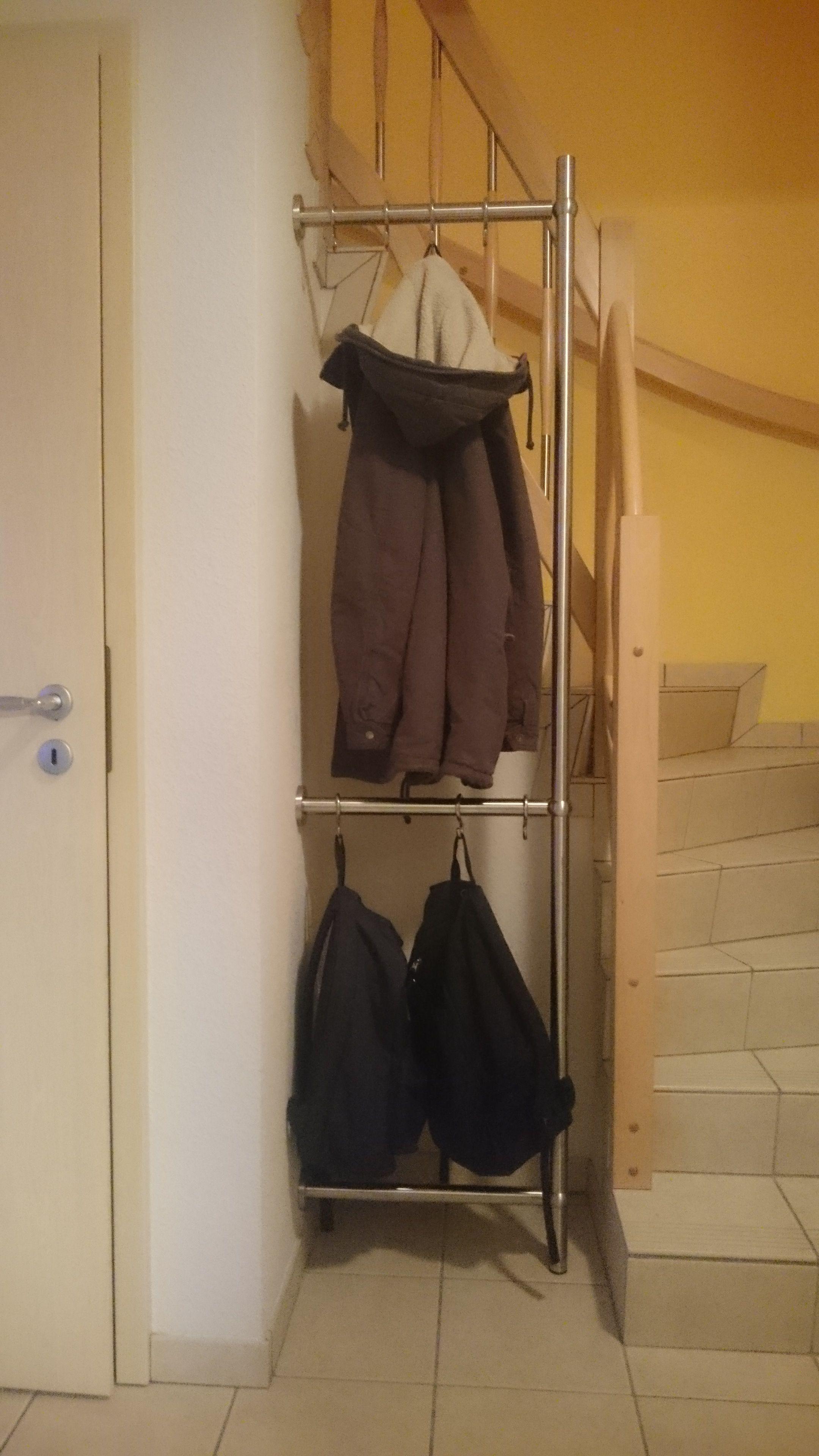 Edelstahl Stand Garderobe Auch Mit Wenig Platz Gibt Es Eine