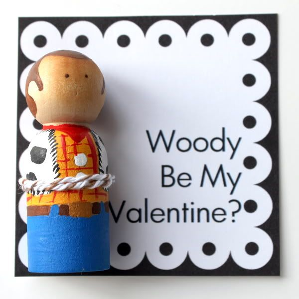 Crossing the Bugger-Dixon Line: DIY Princess and Super Hero Peg Doll Valentines
