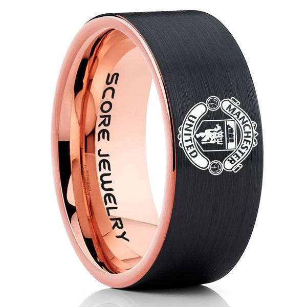 Manchester United Ring Manchester United Jewelry Manchester United Wedding Band Manchester United Football Ring Manchester United Soccer Ring Manchester Un In 2020 Tungsten Carbide Wedding Bands Modern Ring Wedding Rings Engagement