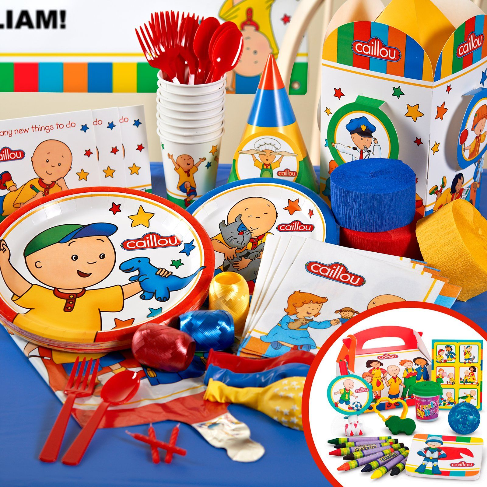 Caillou Birthday Party Supplies | Caillou Birthday Party Ideas ...
