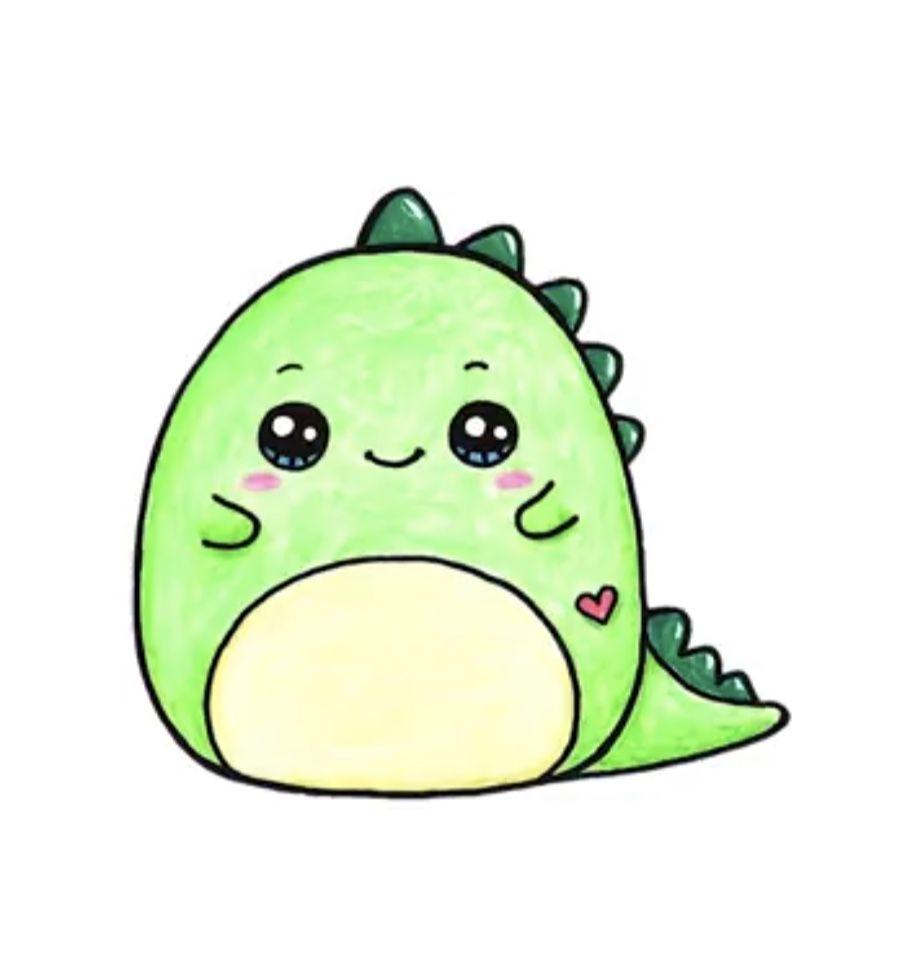 Baby Dinosaur Cute Kawaii Drawings Cute Animal Drawings Kawaii Cute Cartoon Drawings