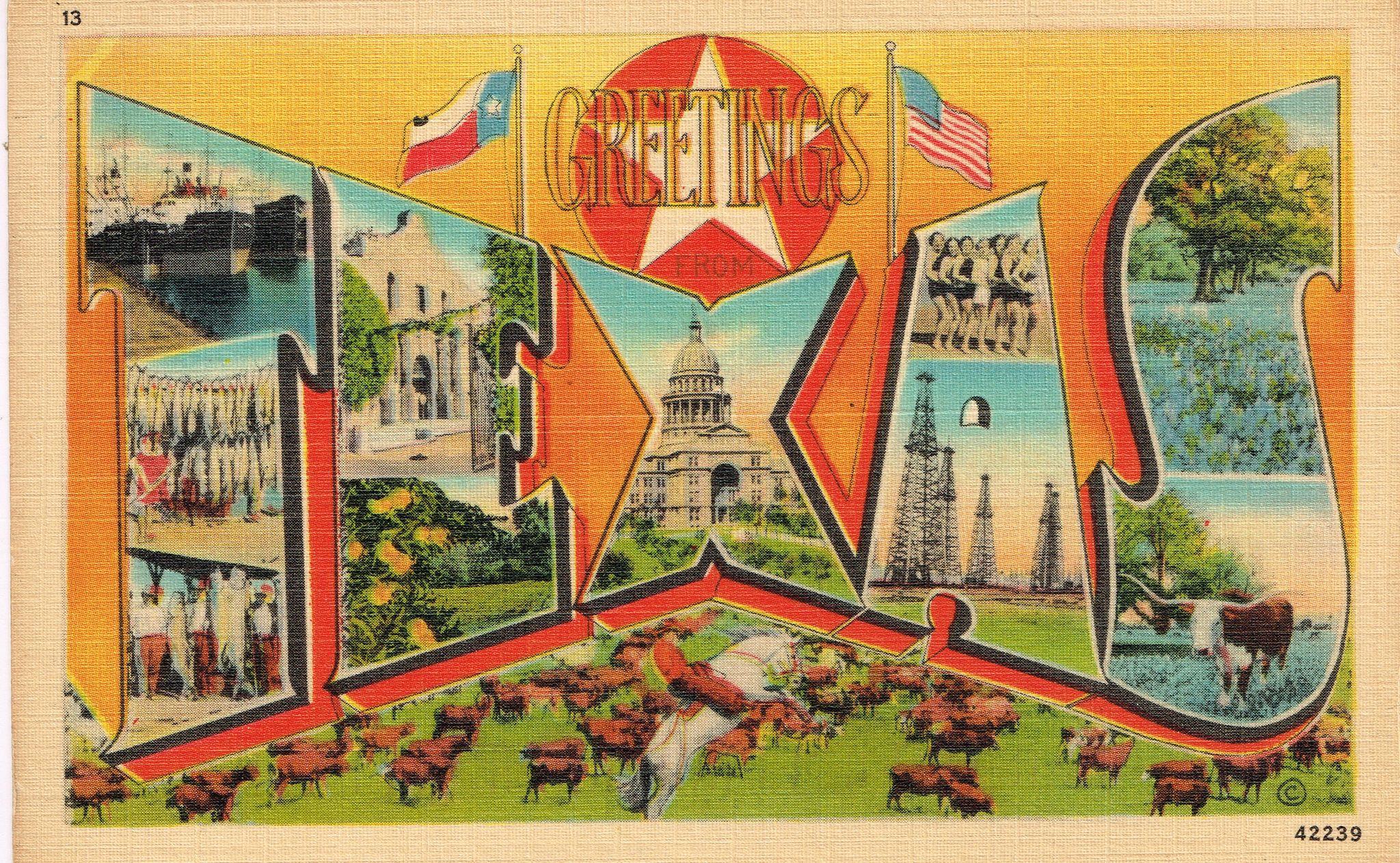 Postcards san antonio vintage postcards and texas vintage postcards greetings from texas published by san antonio card co kristyandbryce Choice Image