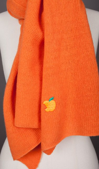 Scarves 100% Cashmere  Orange and many other colors made in France by Evesome  See more >> www.evesome.com