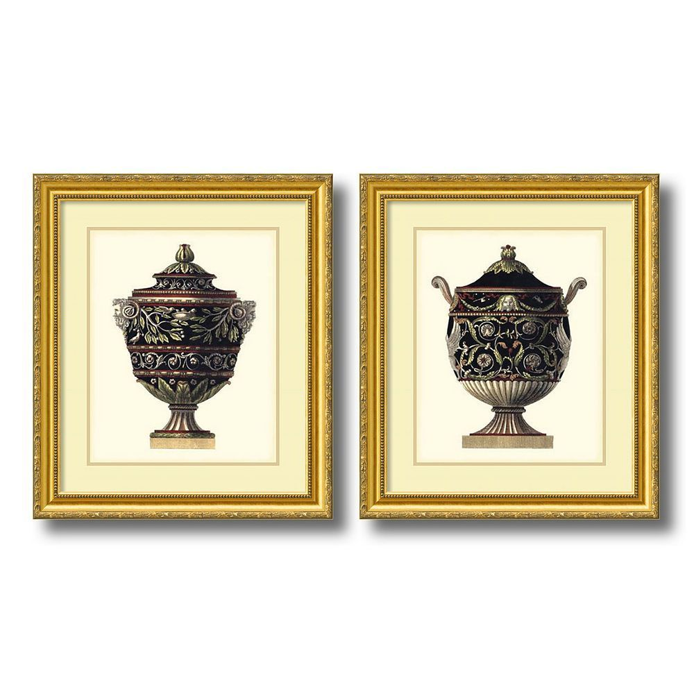 Antonini Clementino Urn I & IV 2-piece Framed Wall Art Set, Gold ...