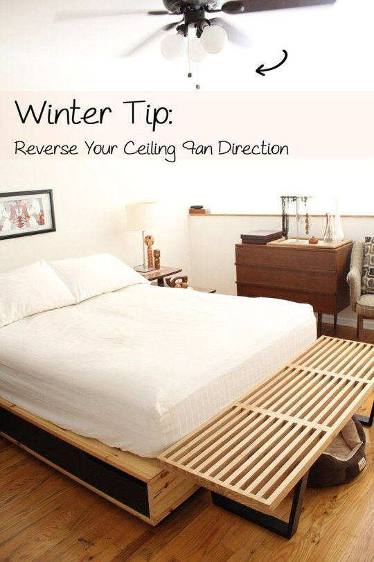 Winter Tip: Reverse Your Ceiling Fan Direction and Save Energy