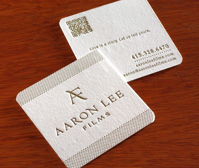 Letterpress business cards for bay area cinematographer aaron lee letterpress business cards for bay area cinematographer aaron lee two sided double thick custom round corners reheart Image collections