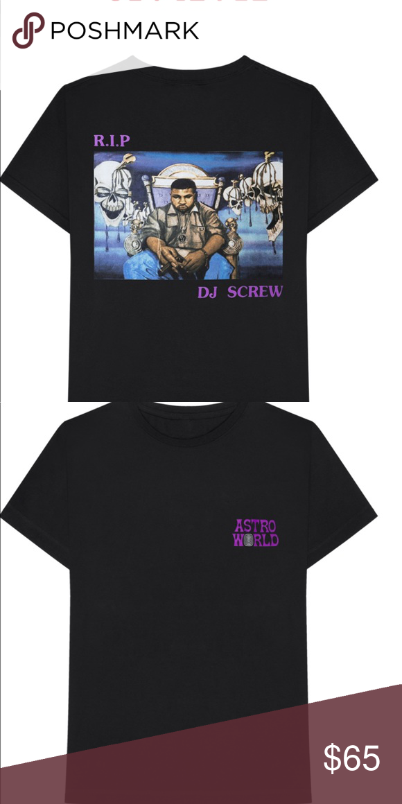 fca464bb9dea Travis Scott Astroworld RIP DJ Screw tee Brand new Travis Scott Astroworld  Tee RIP Dj Screw edition. Shirts Tees - Short Sleeve