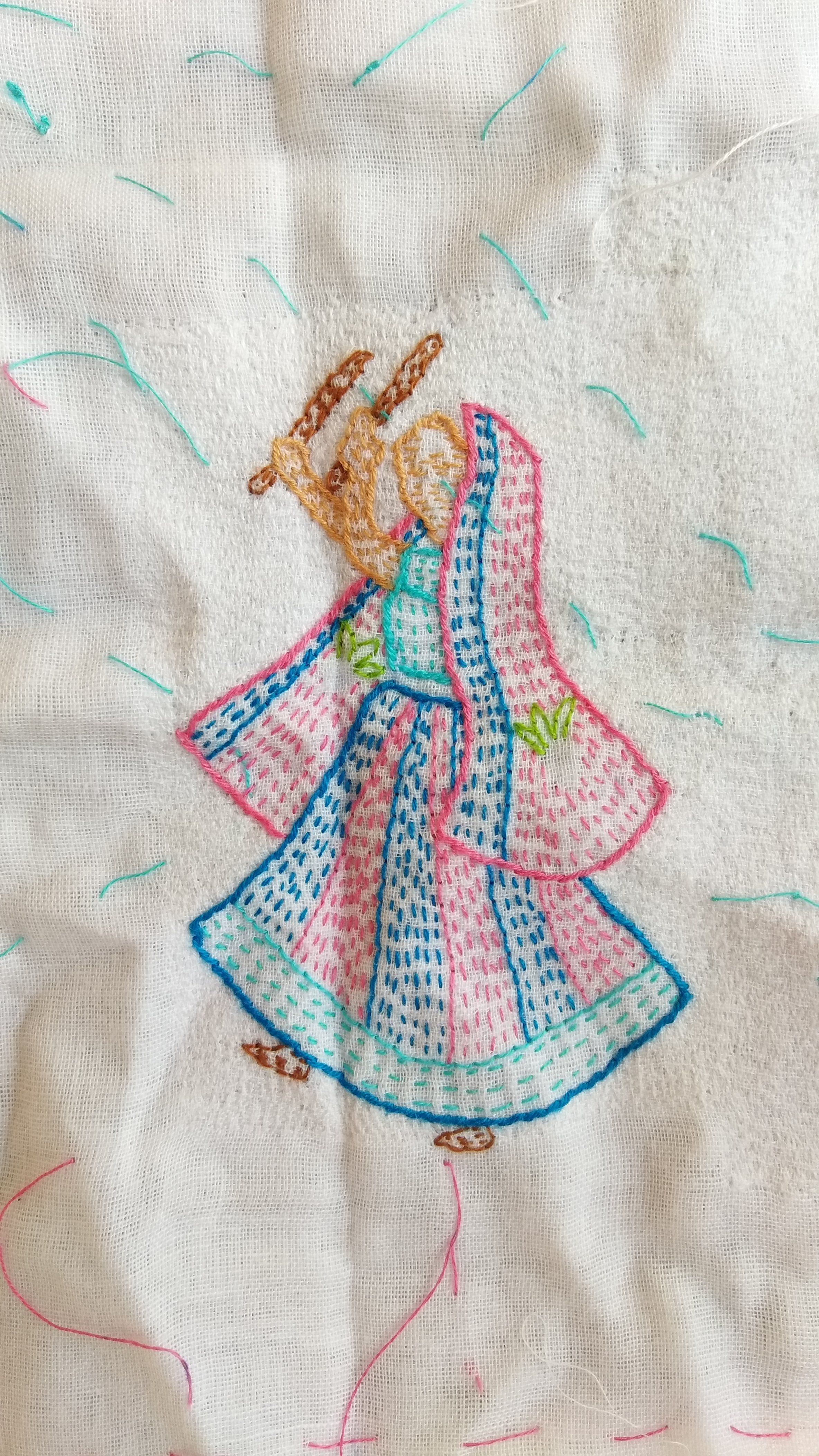 Kantha Embroidery Motif Hand Embroidery West Bengal India