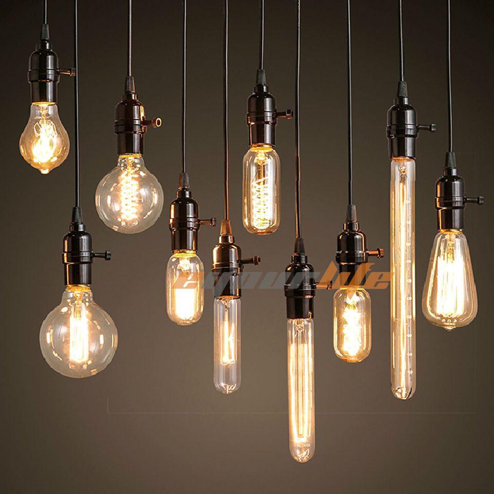 40W 60W Filament Light Bulbs Vintage Retro Industrial Style Edison Lamp E27  LC