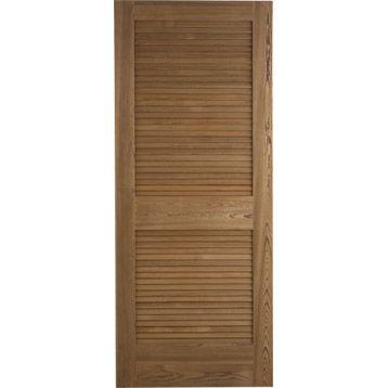 Porte coulissante Java pin chauff  brut pleine ARTENS, 204x73cm - prix porte coulissante sur mesure