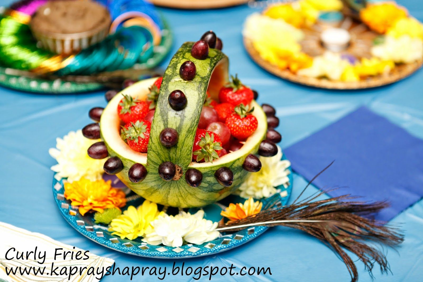 Fruit Mehndi Thaal Ideas