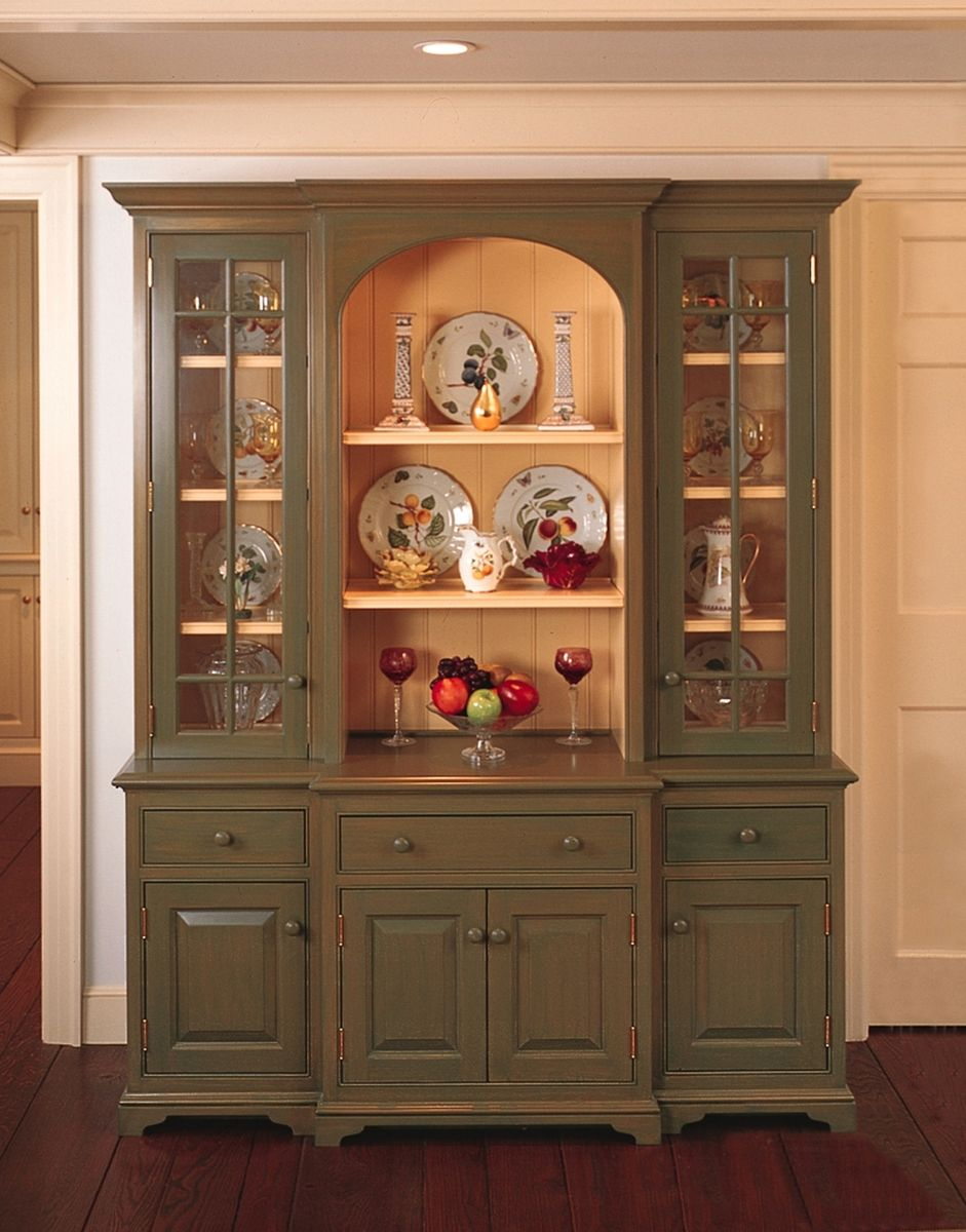 Dining Room Hutch Design Ideas Interior Maple Traditional Hutch ...