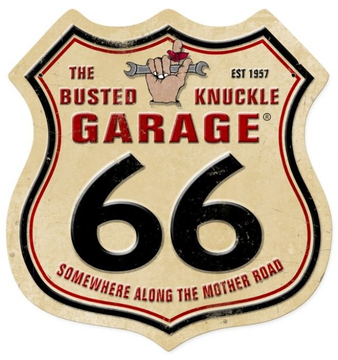 Vintage route 66 metal sign 15 x 15 inches route 66 for Garage herblay route de conflans
