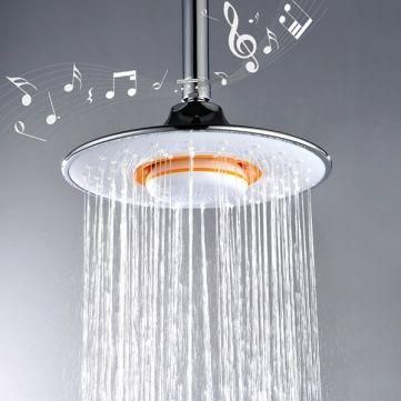 Banggood Mobile Bathroom Music Shower Heads Bluetooth Shower Head