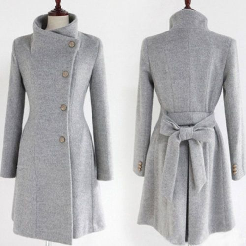Jacket//ALL SIZES! Wool Blend Wrap Coat In 3 Shades - $99