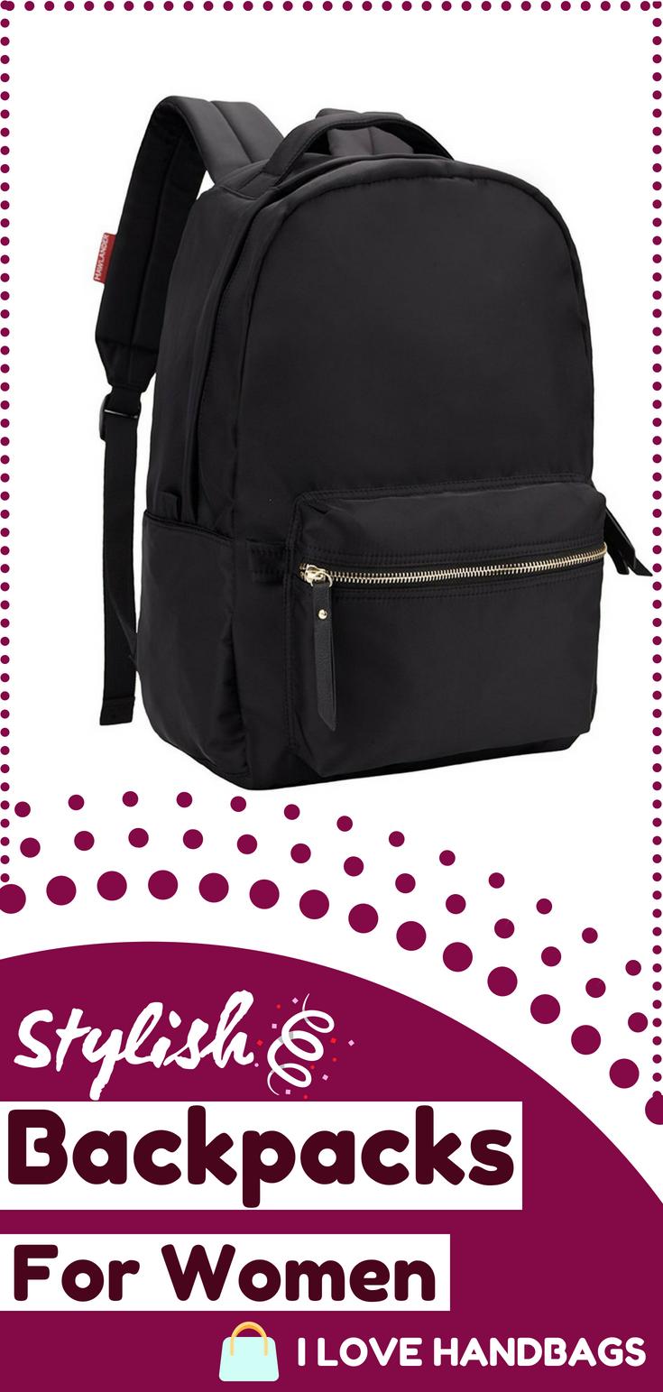 b7cb59471f Backpacks for women   HawLander Nylon Backpack for Women School Bag for  Girls