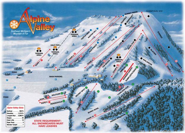 alpine valley ski resort white lake mi my home town pinterest