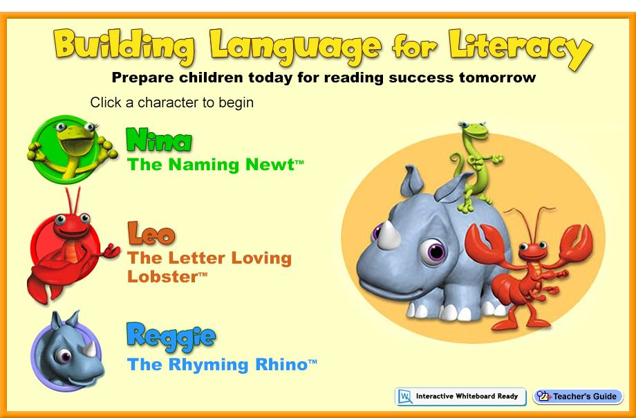 Building Language for Literacy :: Home   This site provides several games that allow students to practice vocabulary and rhyming while learning words having to do with places around a community.
