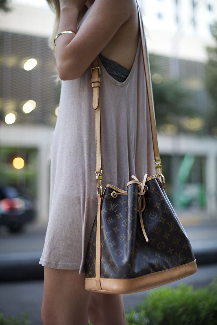 e8380e3a368aa Louis Vuitton Petit Noe Bucket Bag w Cross-body Strap