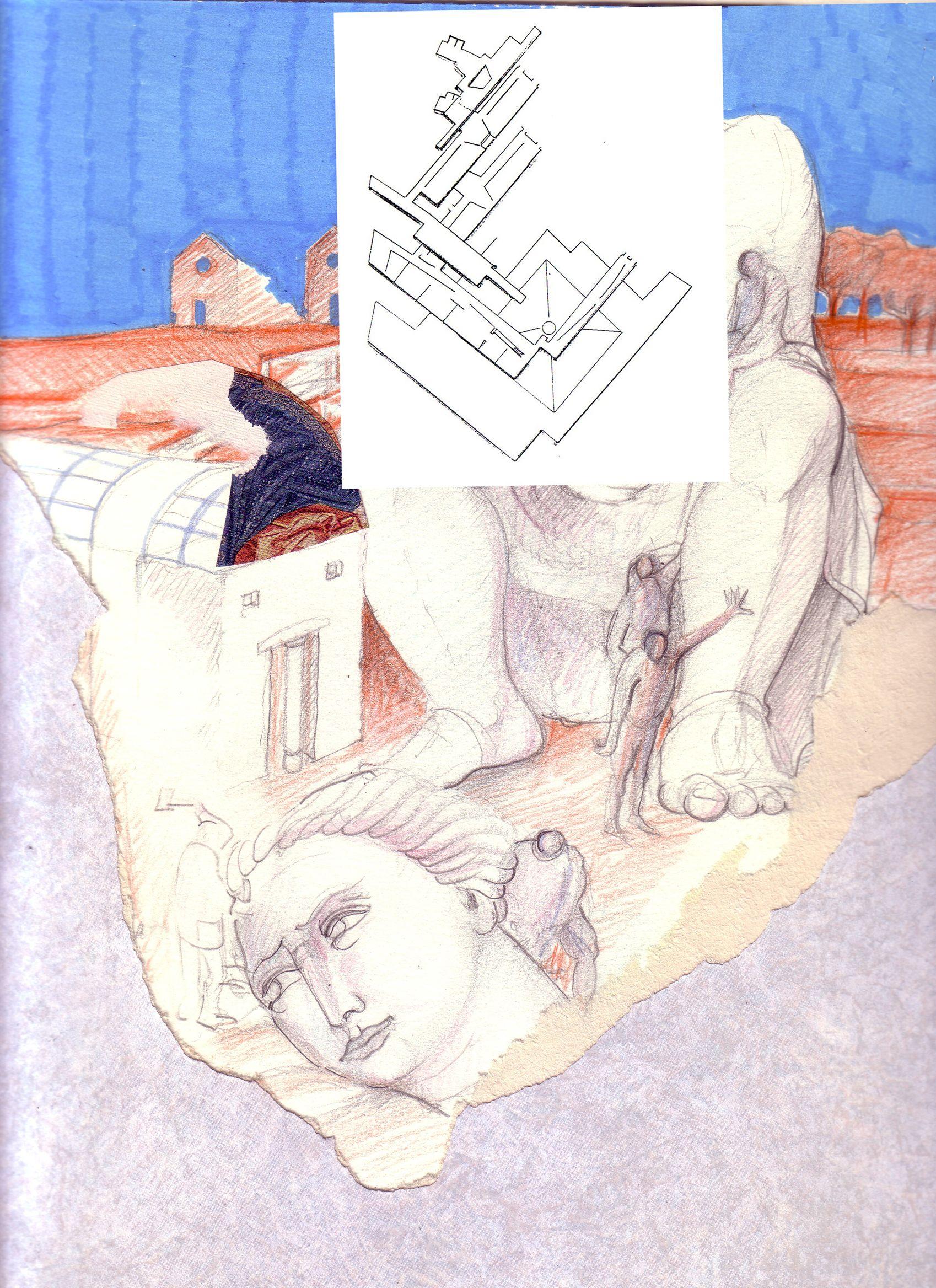 1987_88 GE_SS.GIAFILI  1987_88.3.2_carta lucesa cm. 33 x 24 by Brunetto De Batté