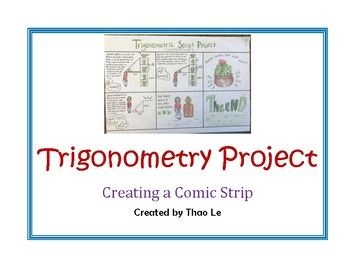 Trignometry Project   Geometry Foldables   Create a comic