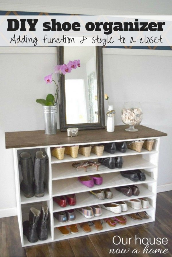 15 DIY Shoe Storage Solutions You Can Build at Home Diy shoe